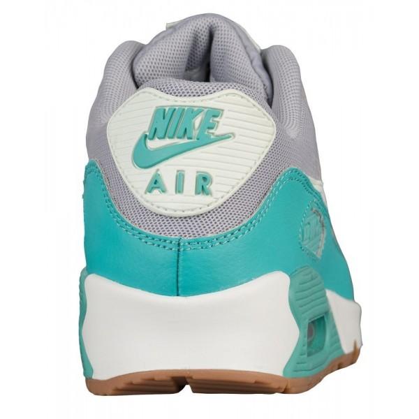 Nike Air Max 90 Damen-Laufschuhe Wolf Grau/Barely Grün/Washed Teal/Summit Weiß