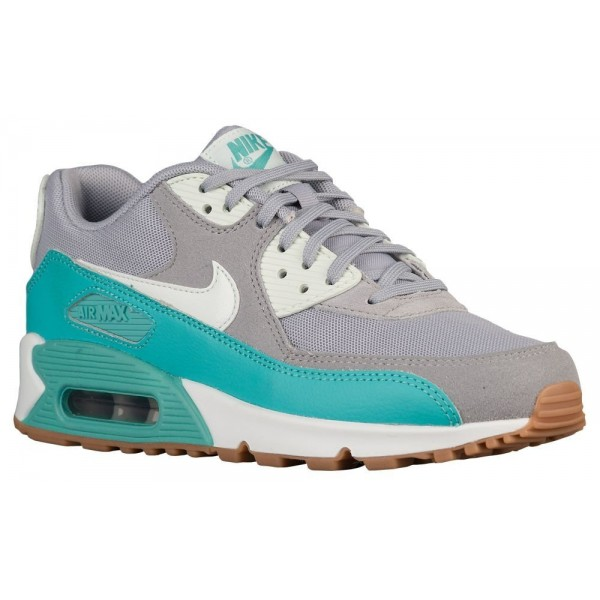 Nike Air Max 90 Damen-Laufschuhe Wolf Grau/Barely Grün/Washed Teal/Summit Weiß
