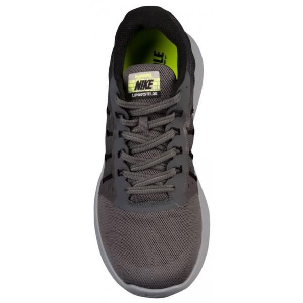 Nike LunarStelos Shield Herren-Laufschuhe Schwarz/Dunkelgrau/Stealth