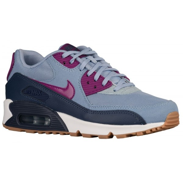 Nike Air Max 90 Damen-Laufschuhe Blau Grau/Bright ...