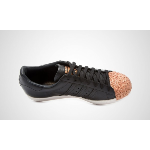 Adidas Superstar 80S Metal Toe TF Damen (Schwarz/copper) Core Schwarz/Core Schwarz/COPPMT S76535