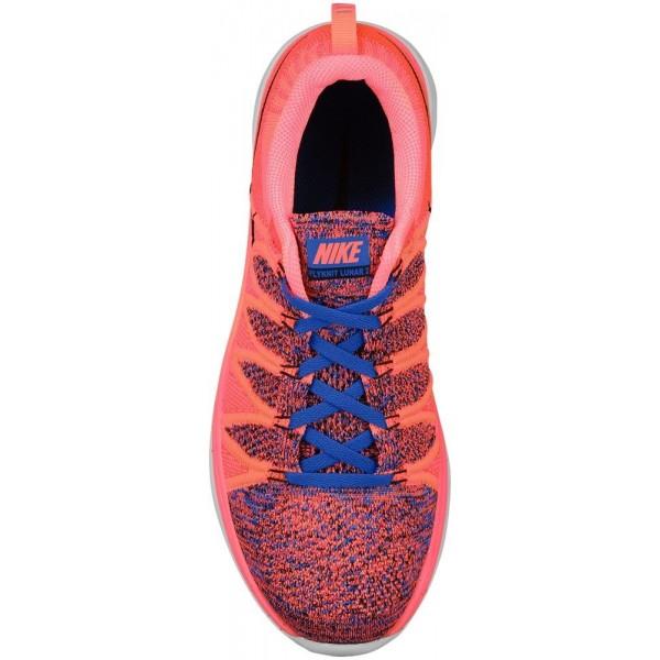 Nike Flyknit Lunar 2 Damen-Laufschuhe Bright Mango/Schwarz/Game Royal/Hyper Punch
