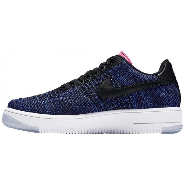 Nike AF1 Ultra Force Damen-Basketballschuh Schwarz/Schwarz/Deep Royal Blau/Digital Rosa