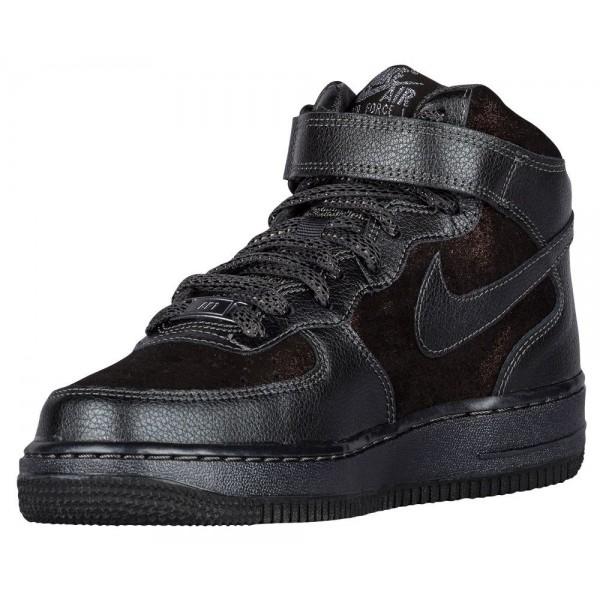 Nike Air Force 1 '07 Mid Prem Damen-Basketballschuh Metallic Hematite/Metallic Hematite