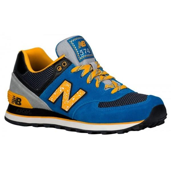 New Balance 574 Damen-Laufschuhe Blau/Gelb