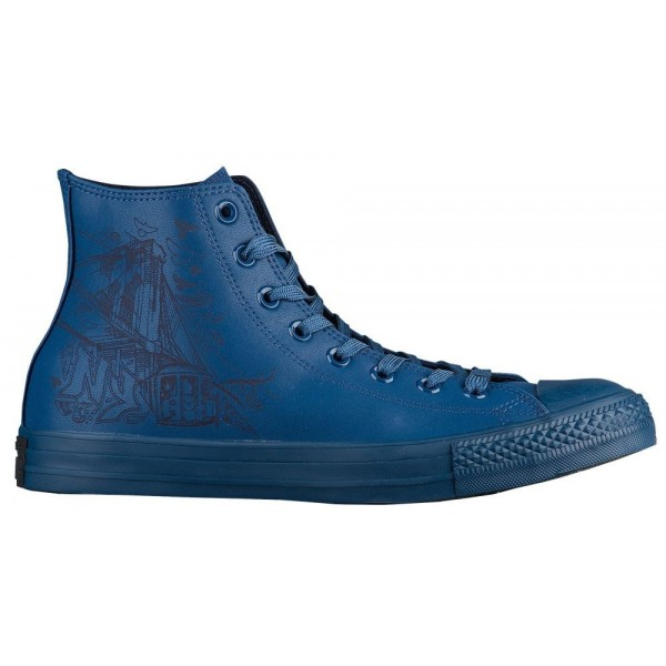 Converse All Star Leather Hi Herren-Basketballschuh Navy