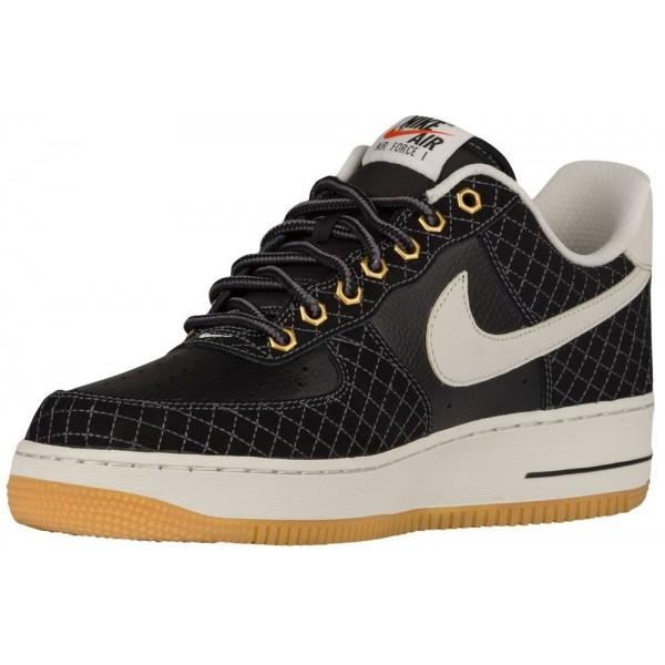 Nike Air Force 1 Low Herren-Basketballschuh Schwarz/Hell Bone/Gum Hellbraun