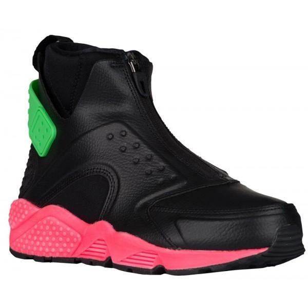 Nike Air Huarache Run Mid Damen Cardio Schuhe Schw...
