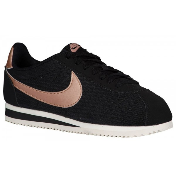 Nike Classic Cortez Damen-Laufschuhe Schwarz/Metal...