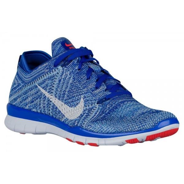 Damen Nike Free TR 5 Flyknit Blau Schwarz Trainingsschuhe