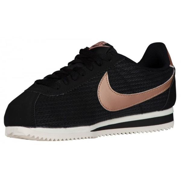 Nike Classic Cortez Damen-Laufschuhe Schwarz/Metallic Rot Bronze/Sail/Schwarz
