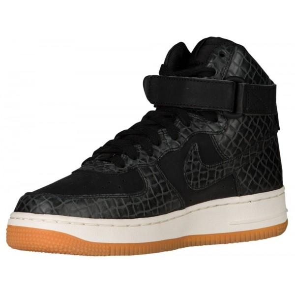 Nike Air Force 1 High Damen-Basketballschuh Schwarz/Schwarz/Gum Med Braun/Sail