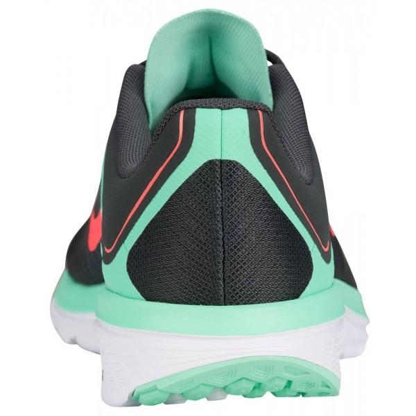Nike FS Lite Run 4 Damen-Laufschuhe Anthracite/Bright Mango/Grün Glow/Weiß