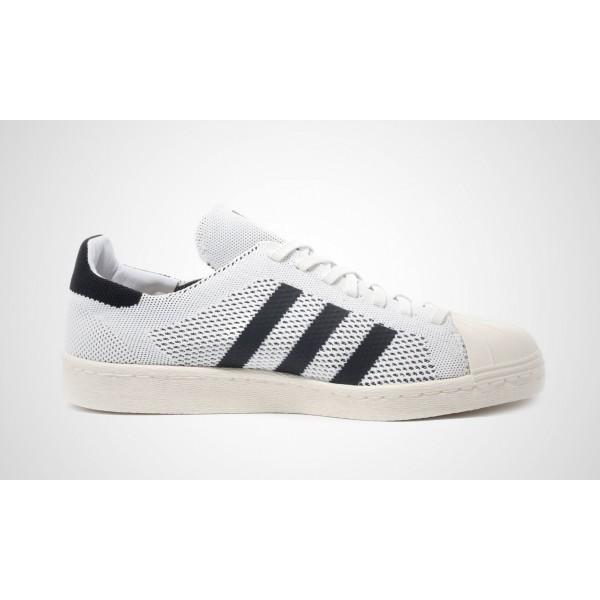 """Adidas Superstar 80s """"Primeknit Pack - Weiß"""" FTWWHT/Core Schwarz/GOLDMT S82779"""