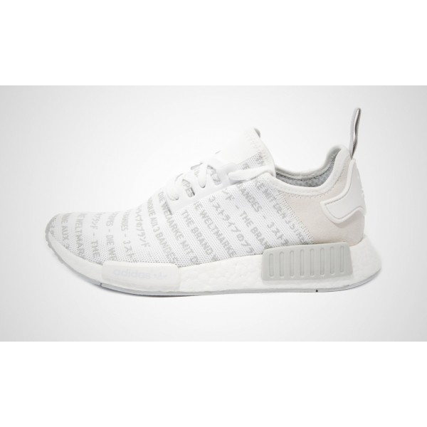"Adidas NMD_R1 ""The Brand With The 3 Stripes - Weiß"" FTWWHT/FTWWHT/CHSOGR S76518"