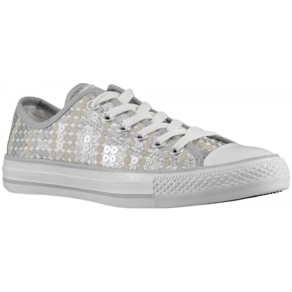 Converse All Star Ox Damen-Basketballschuh Silber