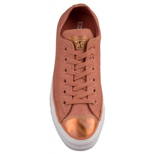 Converse All Star Brush Off Leather Toecap Ox Damen-Basketballschuh Rosa Blush/Blush Gold/Weiß