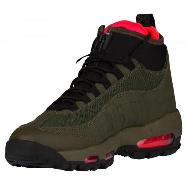 Nike Air Max 95 Sneakerboots Herren-Casual Schuhe Dunkel Loden/Cargo Khaki/Bright Crimson/Schwarz